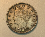 1897 Liberty Nickel Au About Uncirculated