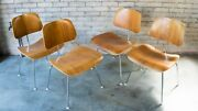Eames For Herman Miller Dcm Chairs - Set Of 4