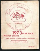 Eastern Wisconsin Stock Cars Racing Yearbook 1976-car Pix With Driver Profil...