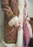 Vintage Rare 1960andrsquos Silk Embroidered Penny Lane Afghan Coat