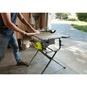 Ryobi Folding Stand Corded Table Saw Cast Aluminum Table Top 10 15 Amp 5000 Rpm