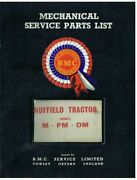 Nuffield M Pm Dm Tractor Orig. 1964 Factory Mechanical Service Parts Catalogue