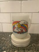 Anchor Hocking Fire King Snoopy Roller Skate And Rainbow Vintage Coffee Mug 1958