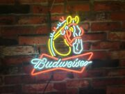 New Budweiser Clydesdale Horse 19x15 Beer Bar Lamp Light Neon Sign Real Glass
