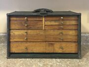 Vintage Machinist Tool Chest With Original Lock And Key See Note On Shipping