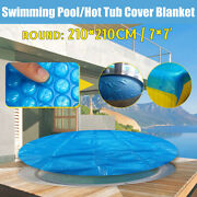 7'' Round Above Ground Swimming Pool Hot Tub Cover For Winter Round Safety Blue