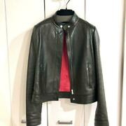 Riders Jacket Leather Free Shipping No.9665