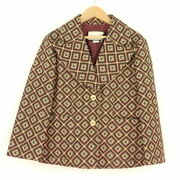 Square Jacquard Jacket Brown System 40 Cotton Other Tops Am1179w No.1836