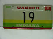 1989 Indiana License Plate   19  Wander   Vintage A9221