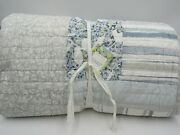 Pottery Barn Rebecca Atwood Garden Organic Patchwork Quilt King 9804a