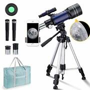 Telescope For Kids 10 And Up, 70mm Aperture 300mm Kids Telescope For