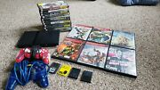 Sony Playstation 2 Slim - Lot Ratchet And Clank, God Of War, 4 Memory Cards