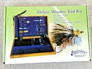 Nib New Fly Tying Deluxe Wooden Tool Kit Fishing Colorado Angler Supply 11 Piece