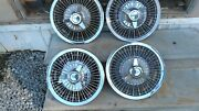 Vintage 1964-66 Chevy Ii Nova Impala Ss 3 Bar Wire Spinner Hubcaps Wheel Covers