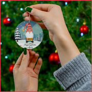 Hot 2021 Gnome Christmas Ornament Funny Pandemic Xmas The Year We Stayed Gnome