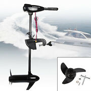 85lbs 24v Electric Brush Trolling Motor Outboard Inflatable Fishing Boat Engine