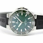Oris Aquis Date 733 7730 4157r Automatic Green Dial Stainless Rubber Mens
