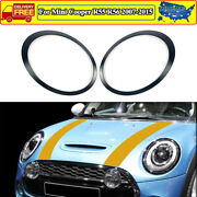 Glossy Black Headlight Trim Ring Left And Right For Mini Cooper R55 R56 2007-2015