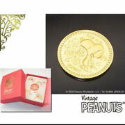 Snoopy 50th Anniversary Of Japan Landing Pure Gold Medal