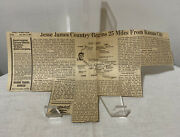 1965 Peoria Journal Star Newspaper Clipping Of Jesse James Country