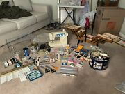 Huge Sewing Lot Brother Machine, Tons Of Extras Vintage Case, Spools, Etc…