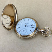 Elgin National Watch Co. Gold Plated Pocket Watch - 41mm Diameter