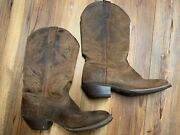 Justin Svl2001 Tan Brown Stitched Comfort Cowboy Cowgirl Boots Womens Size 9 5c