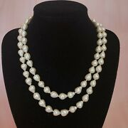 Vintage Faux Pearl Bead Statement Necklace Fashion Choker Costume Jewelry 💖