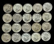 One Roll 1964 Kennedy Half Dollars 90 Silver 20 Coins Lot H15