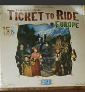 Board Game Ticket To Ride Limited 20th Anniversary Europe Japan Edition