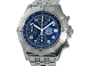 Breitling Chronomat Blue Impulse Limited 500p A13353 Ss Auto Menand039s Watchf5658