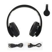 Foldable Wireless Bluetooth Headphones Stereo Mic Headset Audio Usb Rechargeable