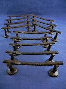 Marx Western Town Fort Apache Horse Hitching Posts 12 Pc