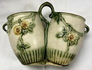 Weller Ware Pottery Usa Beautiful Floral Double Bud Or Posy Vase Rare