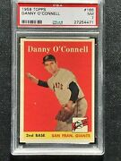 1958 Topps 166 Psa 7 Danny O'connell Giants 166