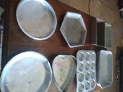 Vintage Aluminum Cookware Bread Pans, Pie, Muffin And Roasting Pans