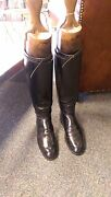 Maxwell Black Leather Riding Boots With Wooden Trees Inside Vintage Riding Boots
