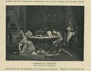 Antique Russian Wolfhound Dog Marriage Of Convenience Dinner Primitive Art Print
