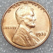 1932 Choice Red Au Lincoln Wheat Cent