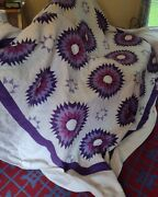 Vintage Antique Amish Handmade Quilt Lancaster County Pa Size Queen