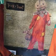Trick R Treat Movie Sam Menand039s Adult Halloween Costume Mask Gloves Xl 40-42 Scary