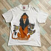 Vintage 90's Disney The Lion King White Short Sleeve T-shirt Size Xl Pre-owned