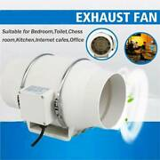 6 Fan Extractor Duct Hydroponic Inline Exhaust Air Cooling Vent 110v 75w