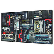 Retro Collection Of Vintage Music Boomboxes 80s Canvas Wall Art Print Picture