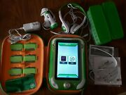 Leapfrog Leappad Ultra Green Learning Tablet W/ 47 Games Cartridges, Car Charger