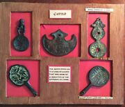 China Early Medallions And Tokens Vintage Reproductions Lot Of 8 In Two