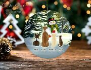 Christmas Ornaments Dog And Cat Personalized Dog Ornament Cat Ornament Holidays