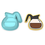 Coffee Pot Cookie Cutter And Stamp 1   Barista Latte Cappuccino Mug Breakfast