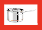 All-clad 6204 Copper Core 5-ply Saucepan With Lid 4-quart Stainless Steel New