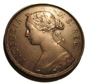 Old Canadian Coins 1880 Newfoundland Canada One Cent Beauty